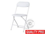 Folding Chair white 44x44x80 cm (8 pcs)