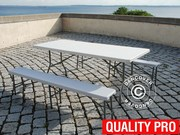 Party package 1 folding table (244 cm) + 2 folding benches (242 cm)