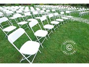 Folding Chair white 44x44x80 cm (24 pcs)