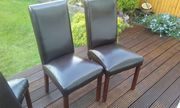 8 piece leather dining chair set