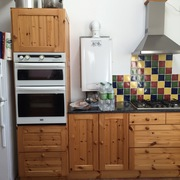Kitchen pine fitted with Belfast sink