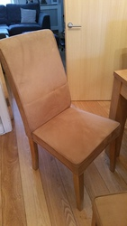 Suede Dining Room Chairs