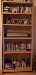 Tall and wide bookcase or DVD cabinet