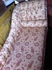 Chaise lounge sofa with floral desighn