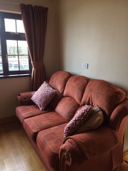 Curtains and three piece suite for sale