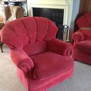 Red three piece suite