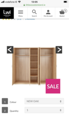 Brand new oak 5 door wardrobe